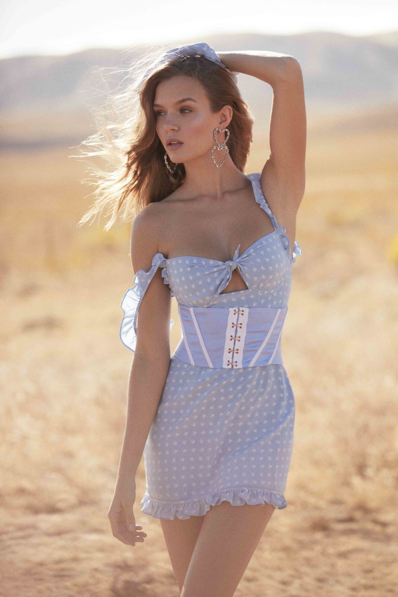 Model Josephine Skriver fronts For Love & Lemons' summer 2018 lookbook