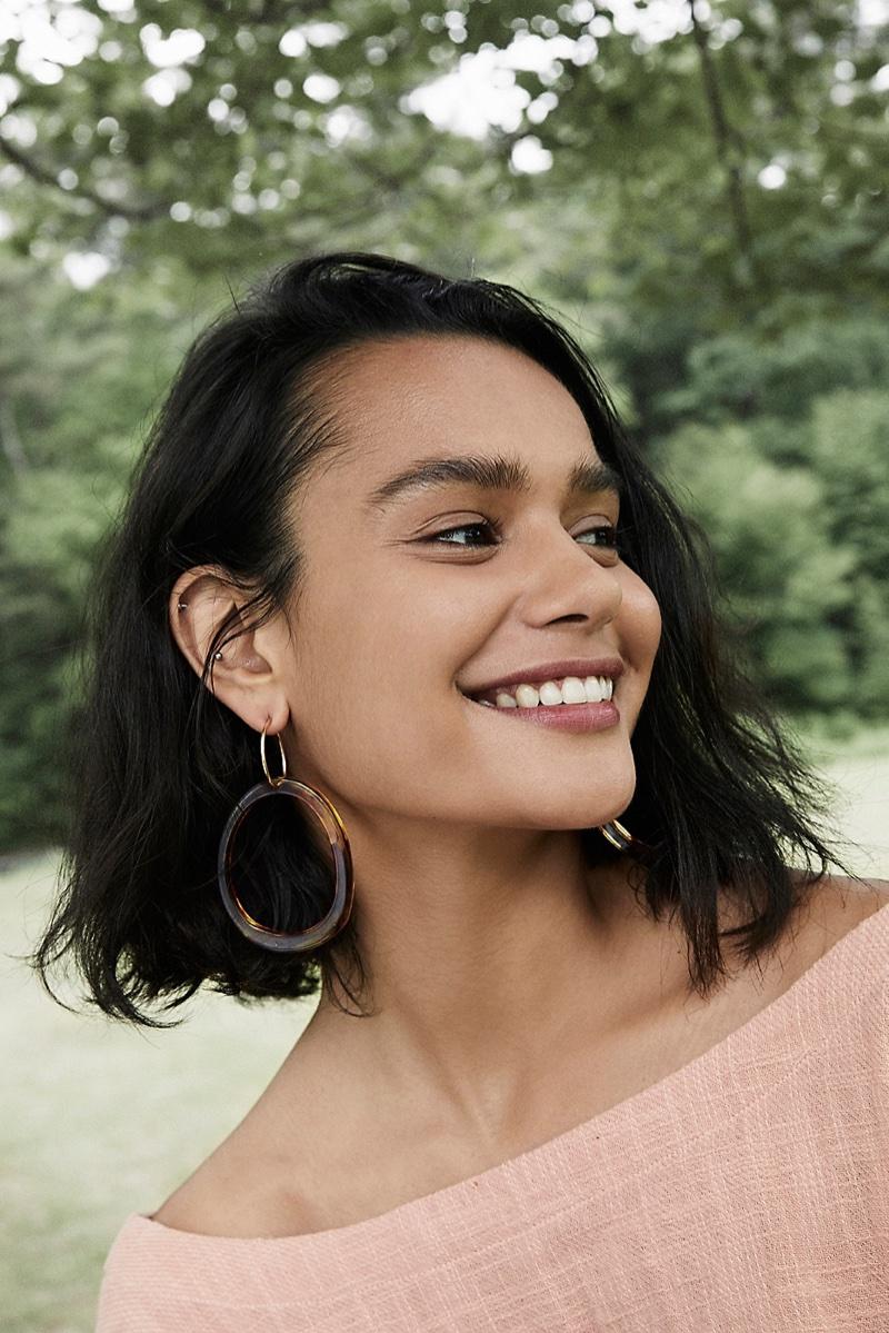 Free People Marbella Resin Hoop Earrings