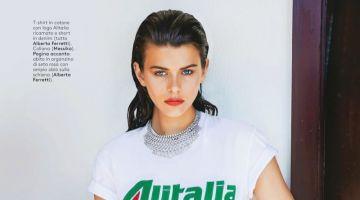 Georgia Fowler Wears Alberta Ferretti Styles for Grazia Italy