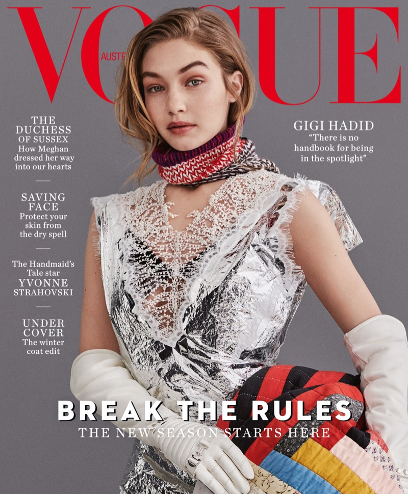 Gigi Hadid Layers Up in Fall Fashion for Vogue Australia