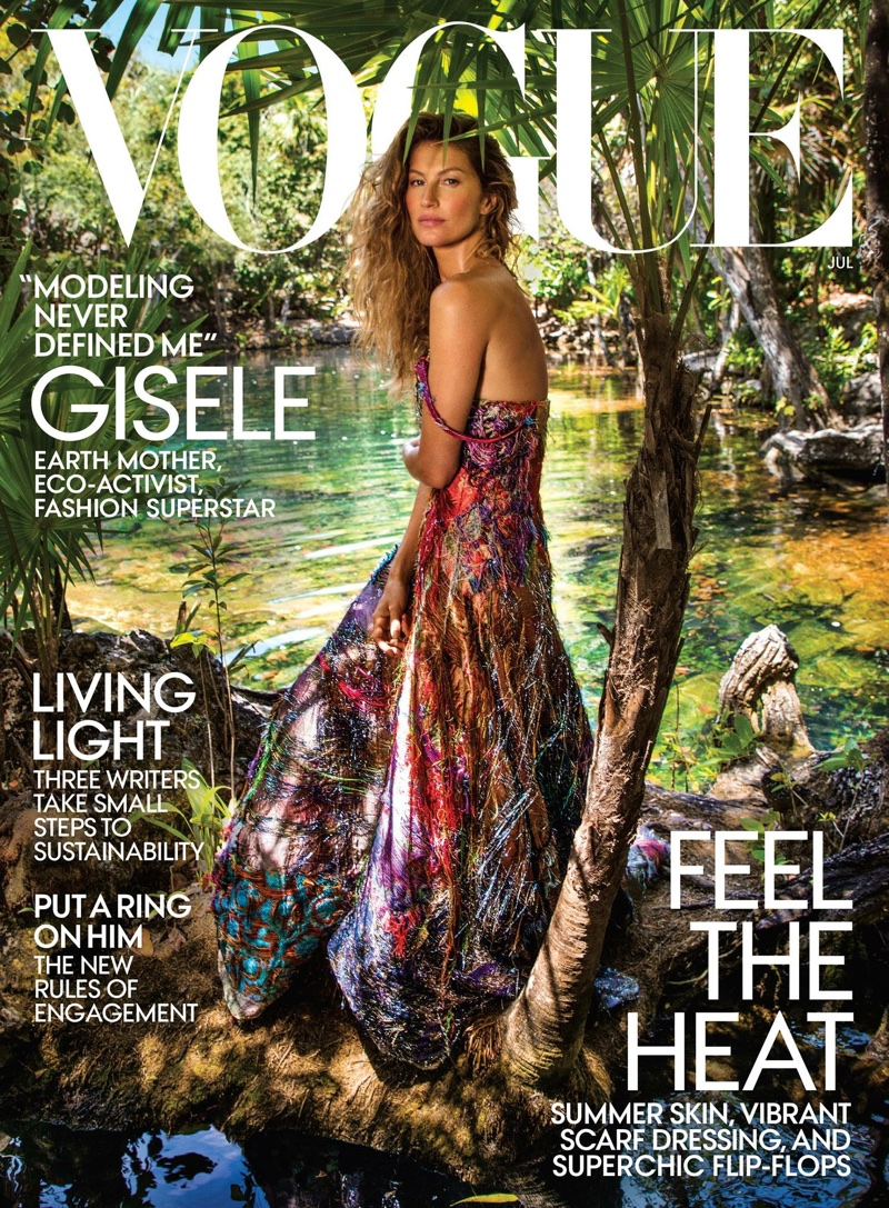Gisele Bundchen on Vogue US July 2018 Cover