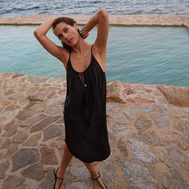 H&M Slip-Style Dress and 3-Pack Necklaces