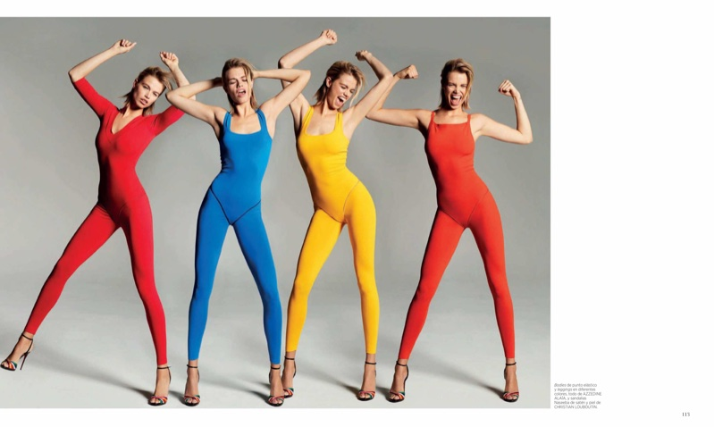 Hailey Clauson Models Technicolor Styles for Harper's Bazaar Spain