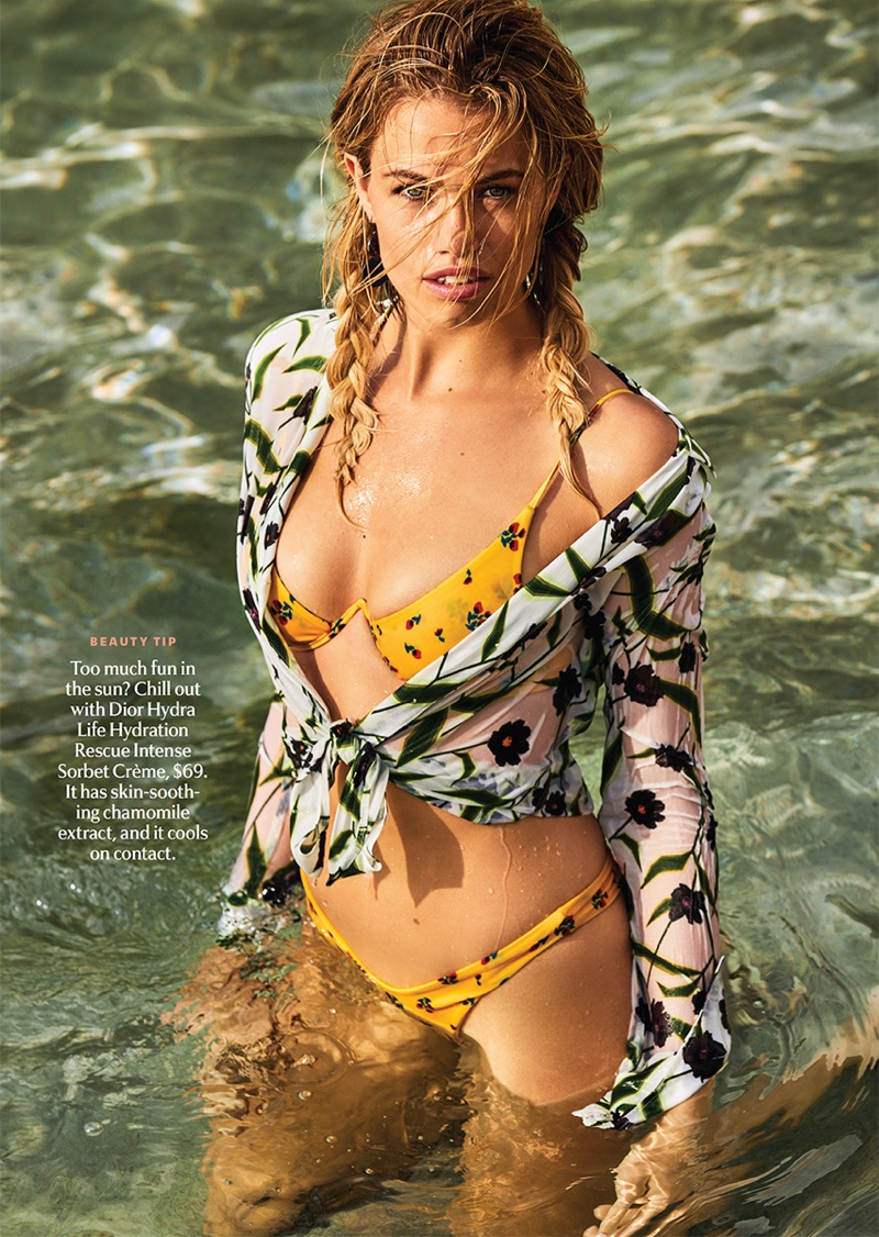 Hailey Clauson Takes On Hot Swimsuit Trends for Cosmopolitan