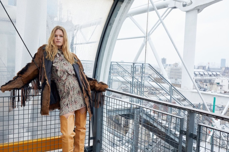 Anna Ewers Chills in Paris for Isabel Marant's Fall 2018 Campaign
