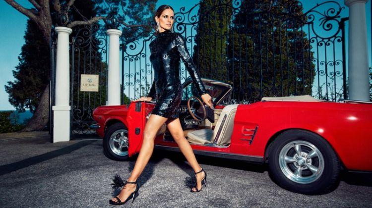 Izabel Goulart models Jimmy Choo Viola 110 Sandals