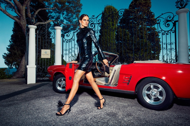 Izabel Goulart models Jimmy Choo Viola 110 Sandals