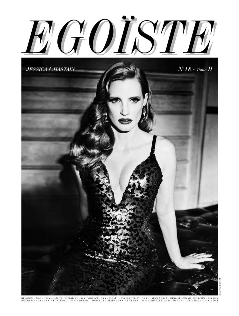 Jessica Chastain on Egoiste Magazine #18 Cover