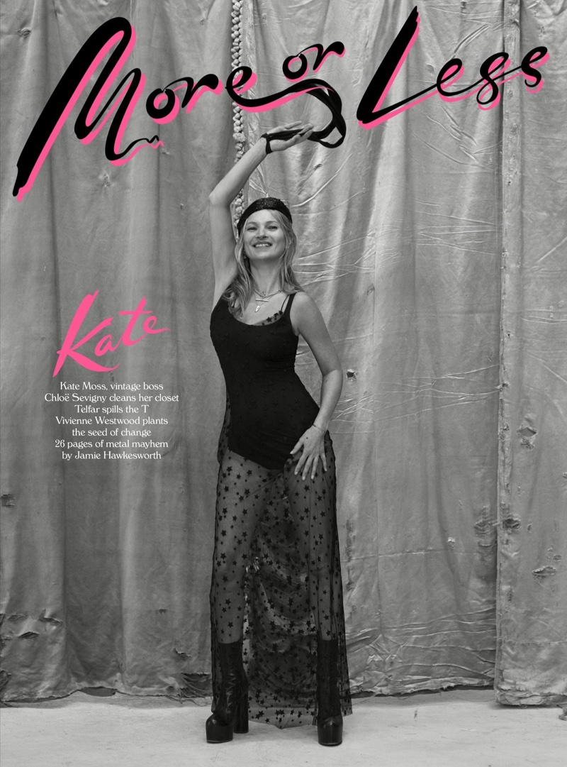Kate Moss Poses in Vintage Threads for More or Less Magazine