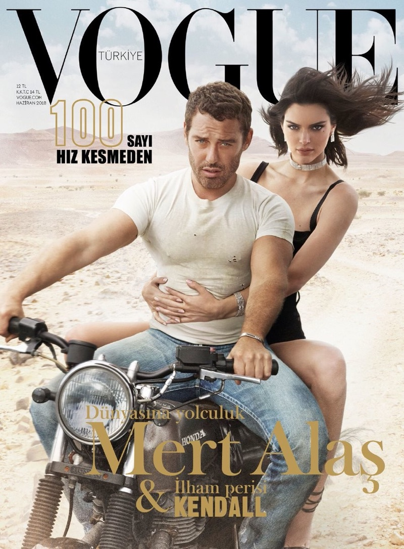 Kendall Jenner & Mert Alas Go for A Ride in Vogue Turkey