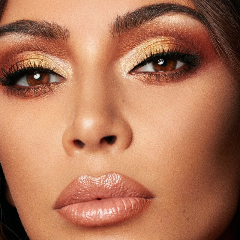 An image from the KKW Beauty x Mario campaign with Kim Kardashian