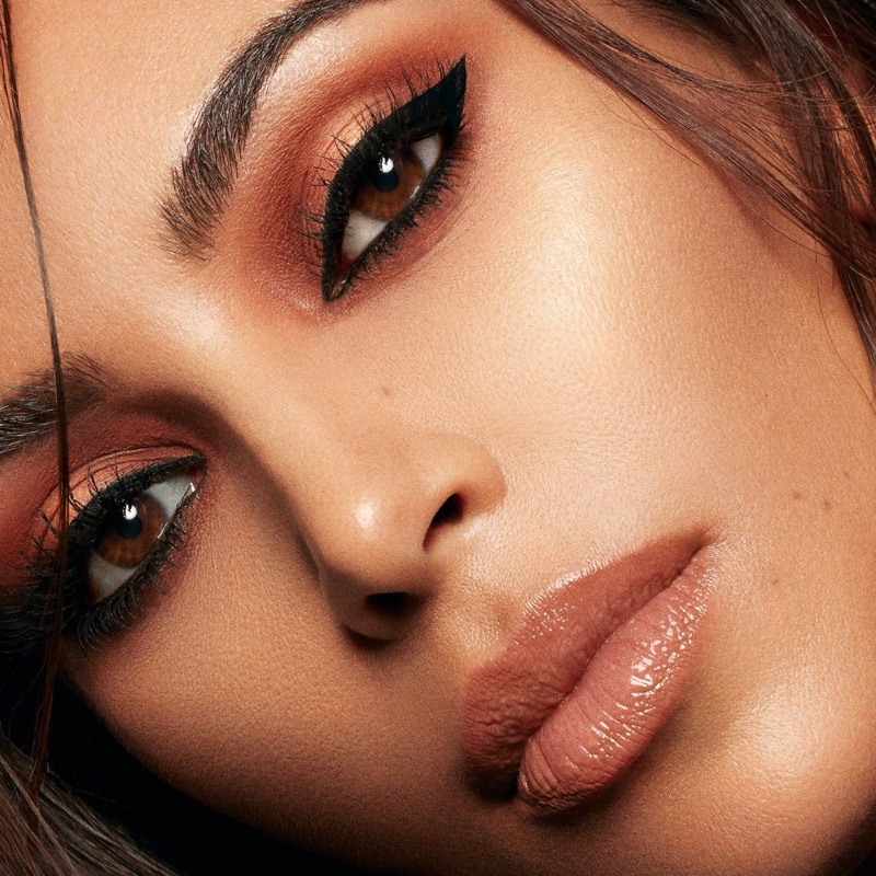 Wearing neutral shades, Kim Kardashian fronts KKW Beauty x Mario campaign