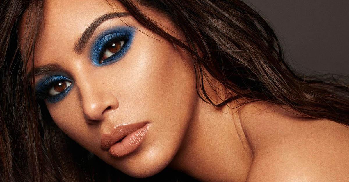 Image result for electric blue eye makeup kim kardashian