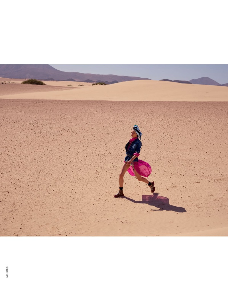 Kim Noorda Models Desert-Ready Looks for Marie Claire Italy