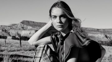 Kim Noorda Charms in Black & White for Unconditional Magazine