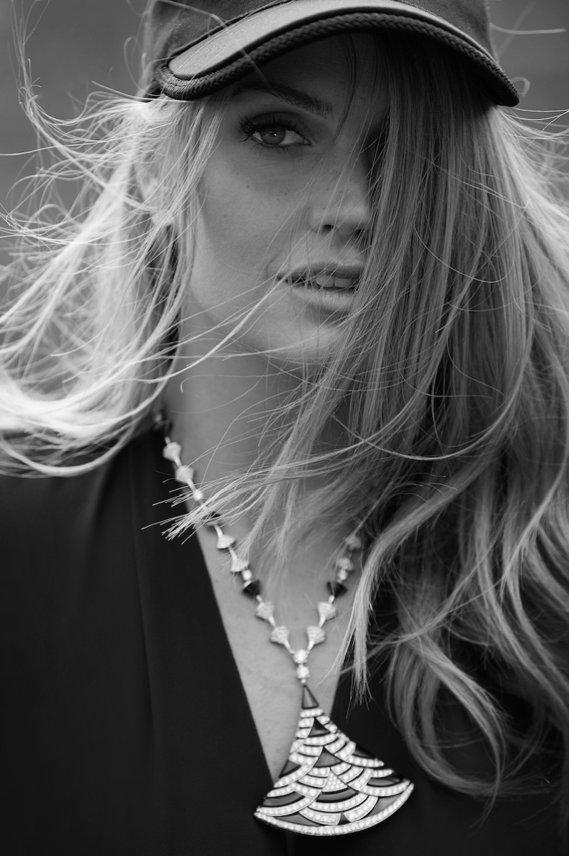 Photographed in black and white, Kitty Spencer fronts Bulgari campaign
