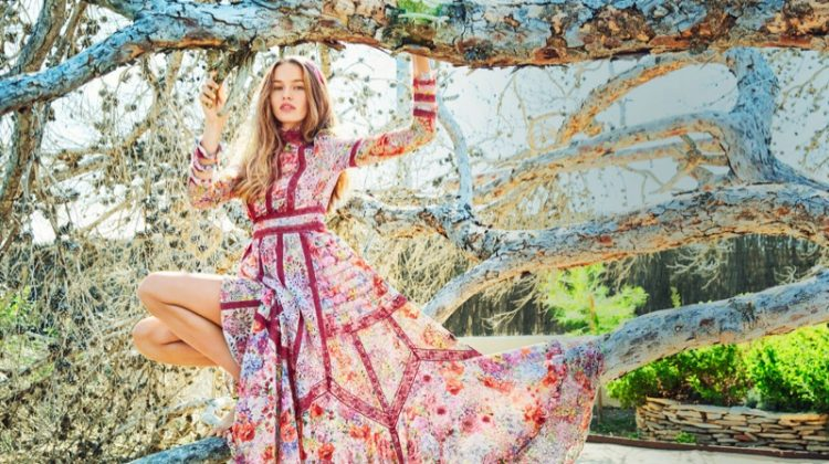 Kristina Romanova Wears the Season's Prettiest Dresses for ELLE Russia