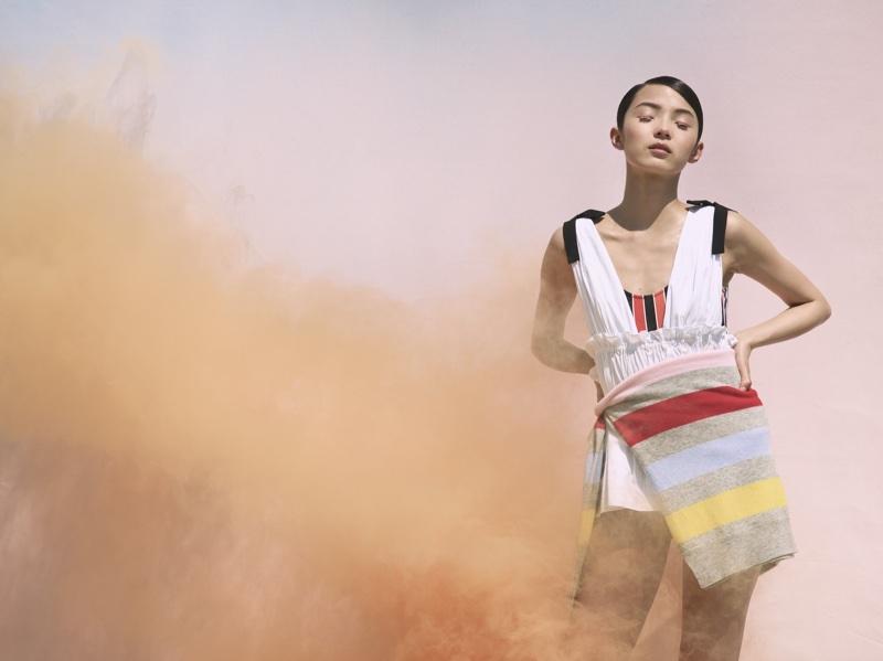 Xiao Wen Ju stars in La Ligne's summer 2018 campaign