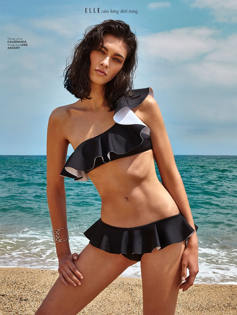 Laura Sanchez Models Swimsuit Season Looks for ELLE Vietnam