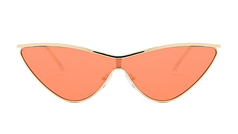 Le Specs x Adam Selman The Fugitive Sunglasses in Bright Gold with Tangerine Tint Lenses $119