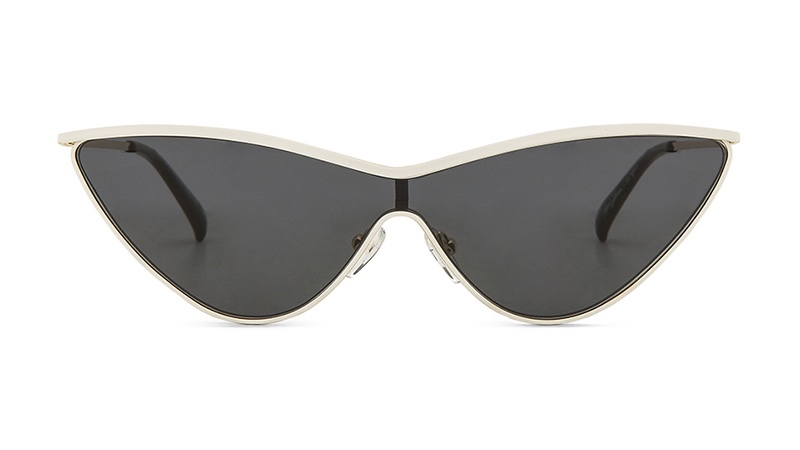 Le Specs x Adam Selman The Fugitive Sunglasses in White Gold with Smoke Mono Lenses $119