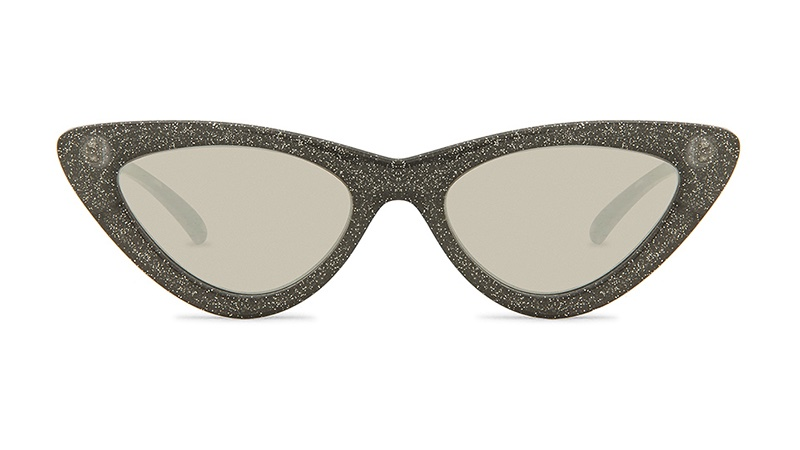 Le Specs x Adam Selman The Last Lolita Sunglasses in Black Glitter $119