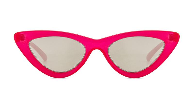 Le Specs x Adam Selman The Last Lolita Sunglasses in Opaque Red with Silver Mirror Lenses $119