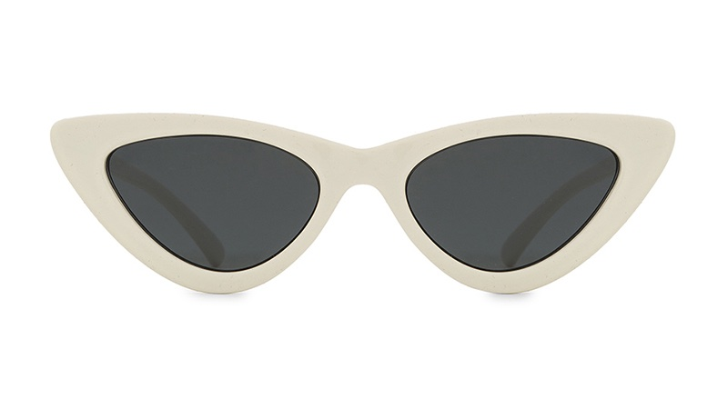Le Specs x Adam Selman The Last Lolita Sunglasses in White with Smoke Mono Lenses $119