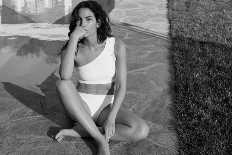 Lily Aldridge wears one-shoulder bikini in Lauren Ralph Lauren summer 2018 campaign