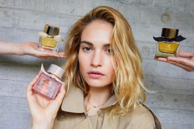 Lily James Returns As the Face of 'My Burberry' Fragrance