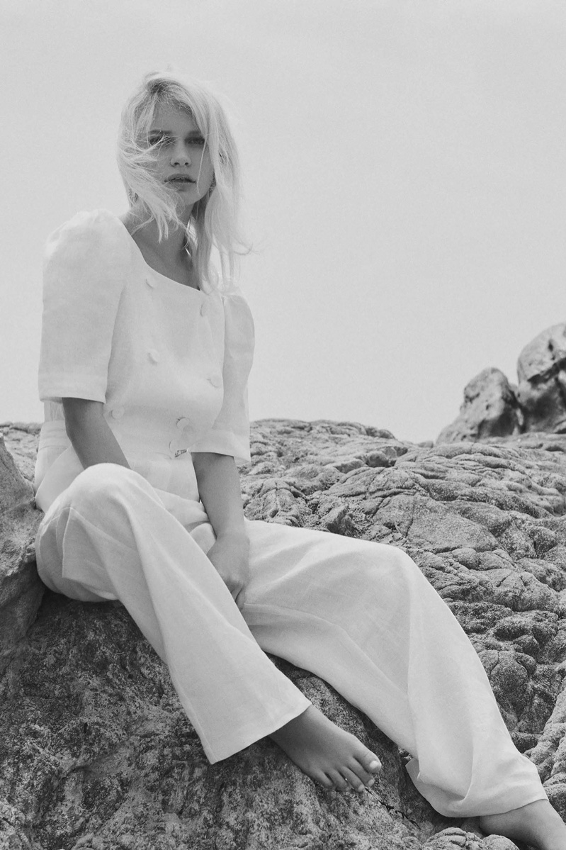 An image from Lisa Marie Fernandez's spring 2018 lookbook
