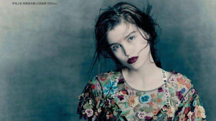 Luna Bijl Models Dreamy Dresses for Vogue China