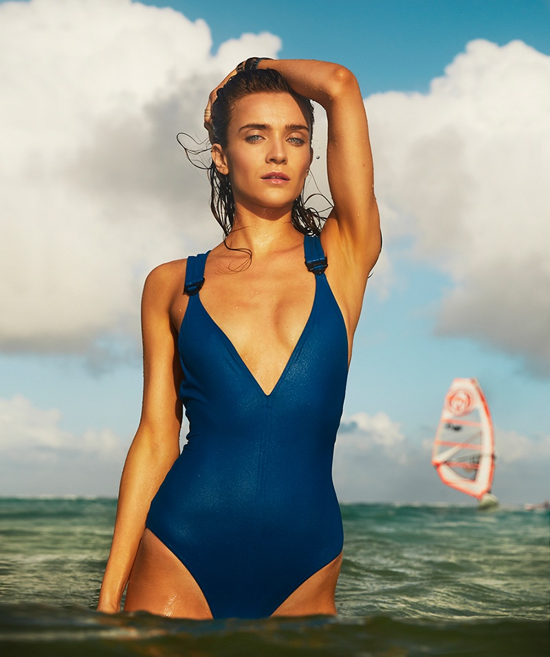 Lynn Palm Models Surf & Swim Looks for Marie Claire Netherlands