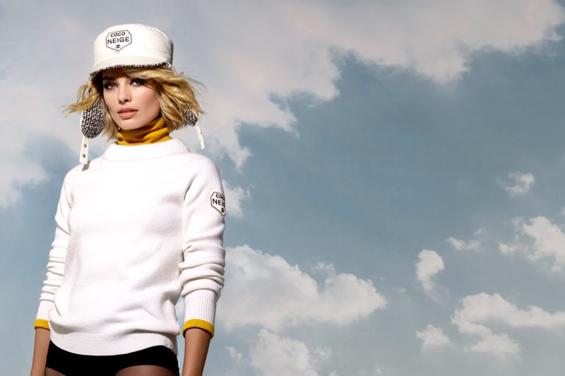 Karl Lagerfeld photographs Margot Robbie for Chanel's Coco Neige campaign