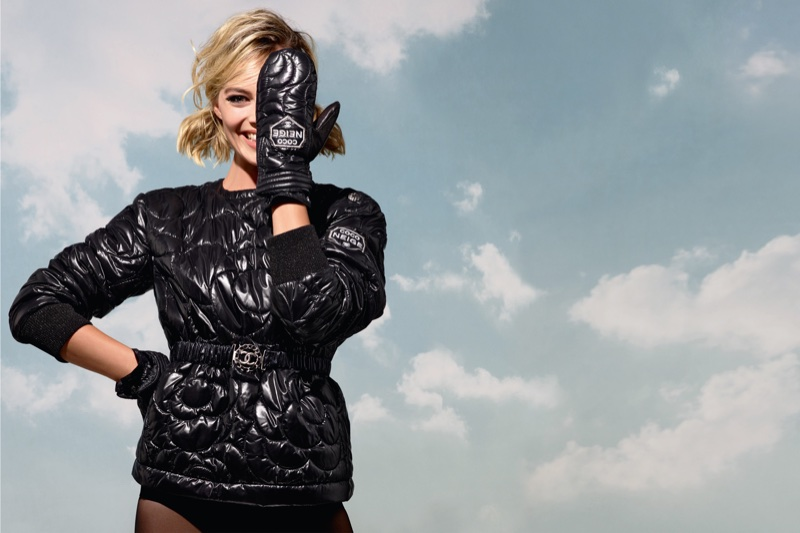 Margot Robbie looks ready for ski season in Chanel Coco Neige campaign