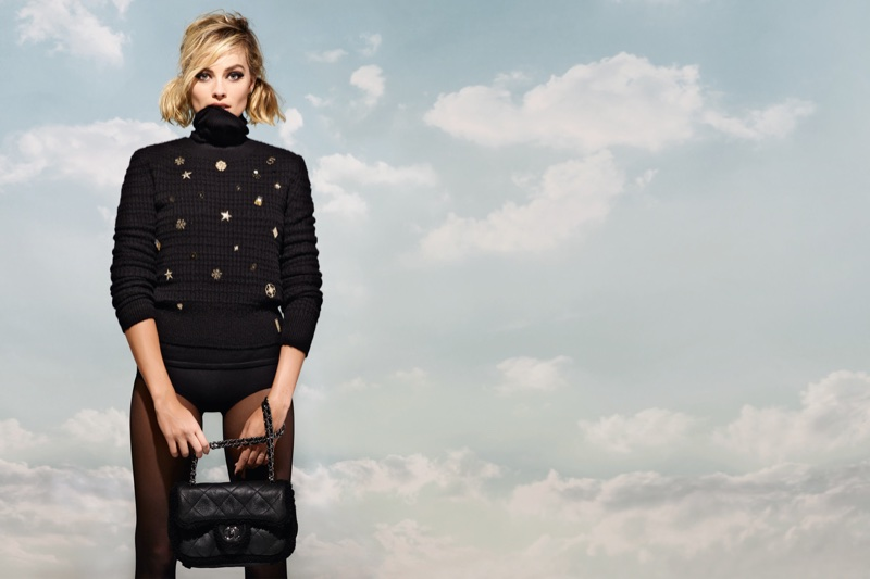 Covering up, Margot Robbie appears in Chanel Coco Neige campaign