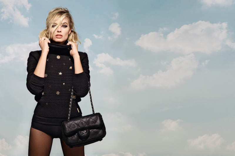 An image from Chanel's Coco Neige advertising campaign with Margot Robbie