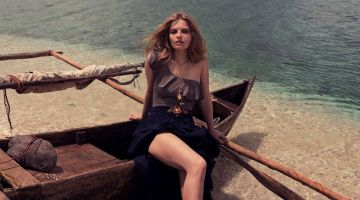 Maria Konieczna Models Vacation-Ready Styles for Gioia Magazine