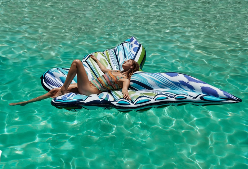 A design from the Missoni x Funboy pool float collaboration