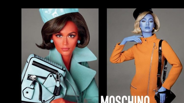 Kaia Gerber & Gigi Hadid Get Painted in Moschino's Fall 2018 Campaign