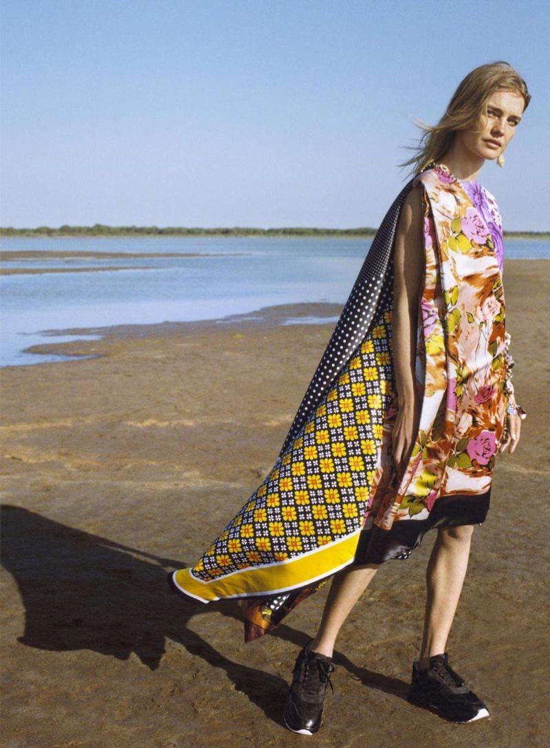 Natalia Vodianova Embraces Playful Prints for Vogue