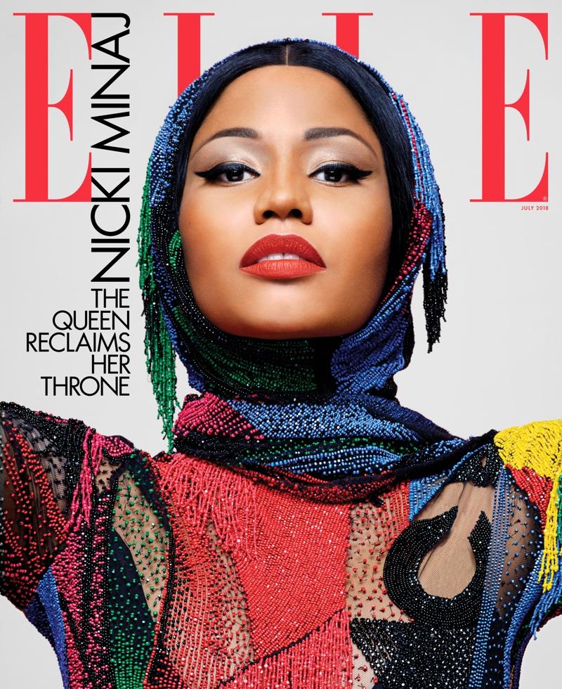 Nicki Minaj on ELLE US July 2018 Cover