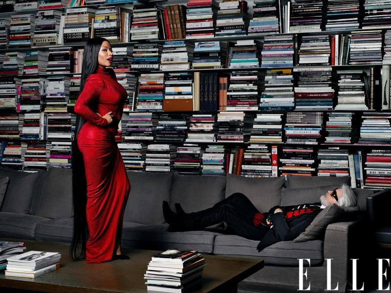 Nicki Minaj wears Alexandre Vauthier dress and Stuart Weitzman pumps