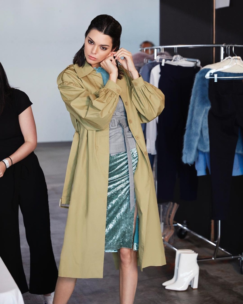 BEHIND-THE-SCENES: Kendall Jenner on set at Ochirly fall-winter 2018 shoot