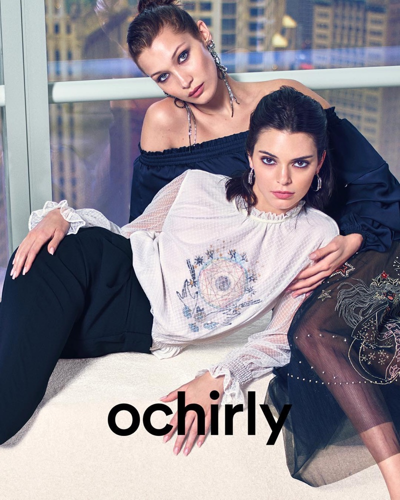 Kendall Jenner and Bella Hadid appear in Ochirly's fall-winter 2018 campaign