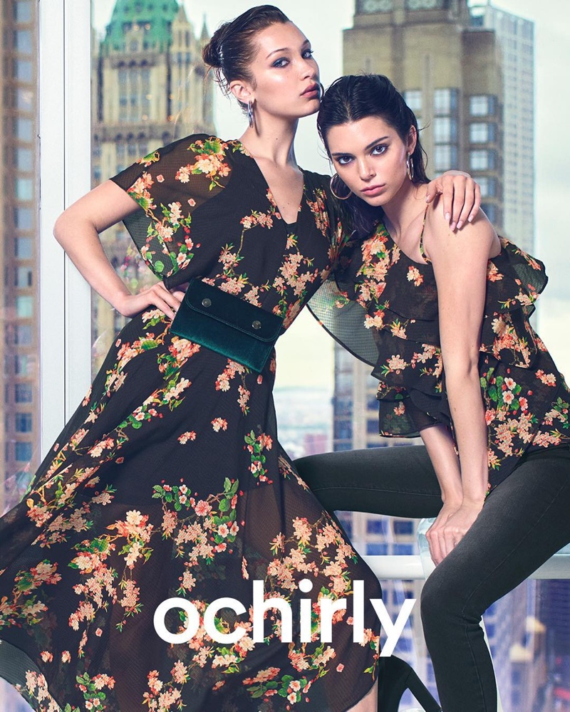 Bella Hadid and Kendall Jenner star in Ochirly's fall-winter 2018 campaign