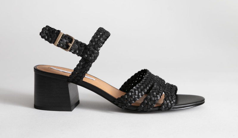 & Other Stories Braided Trio Strap Heeled Sandals $89 (previously $129)