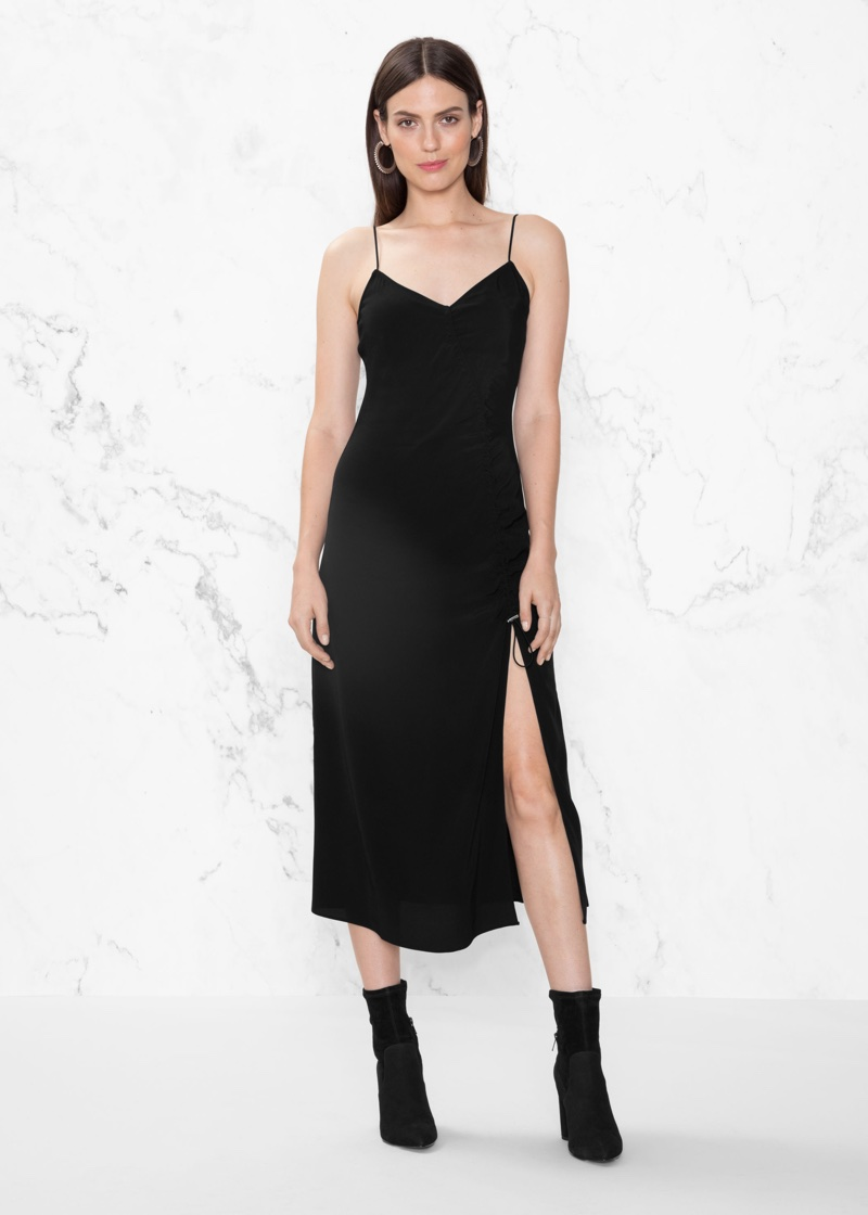 & Other Stories Drawstring Slit Dress $67 (previously $95)