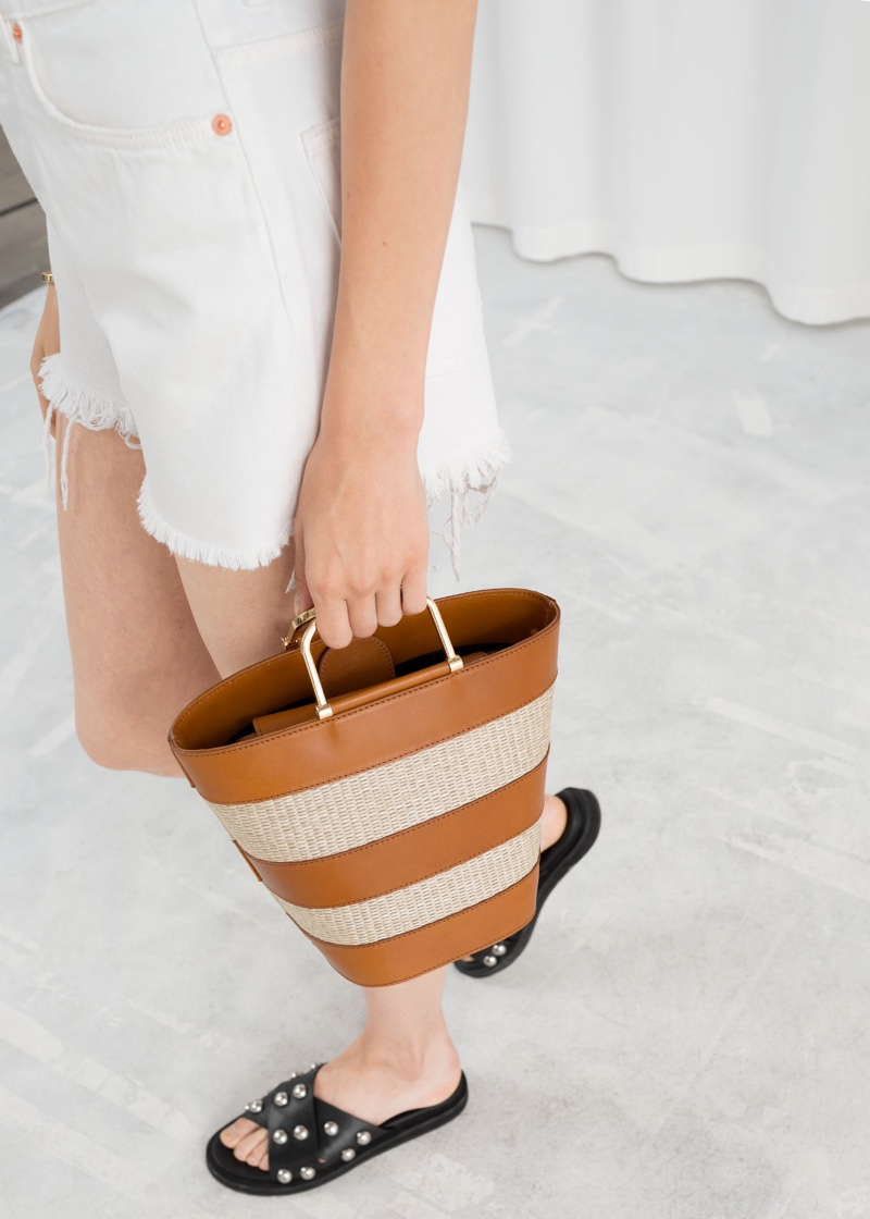 & Other Stories Woven Bucket Bag $65 (previously $129)
