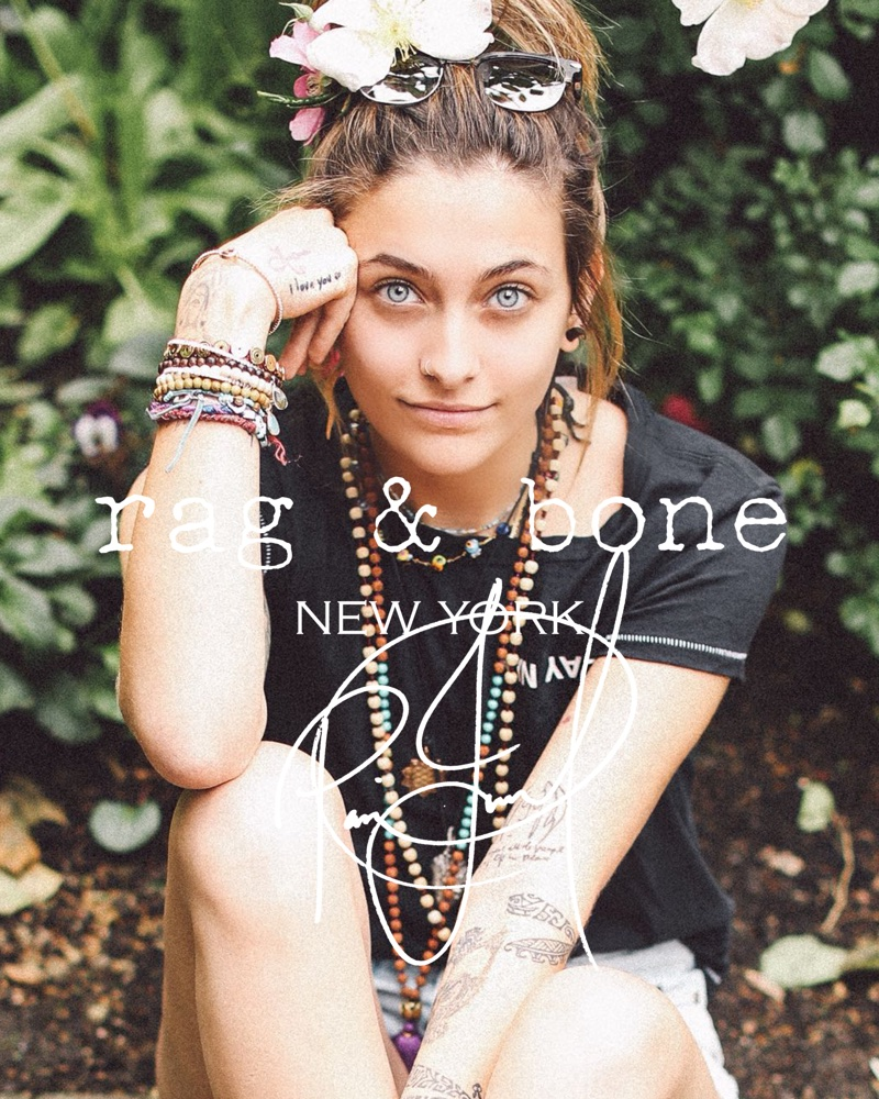 Actress Paris Jackson appears in Rag & Bone's DIY Project